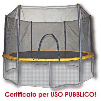 Tappeto elastico certificato pubblico Airzone 3,70 mt