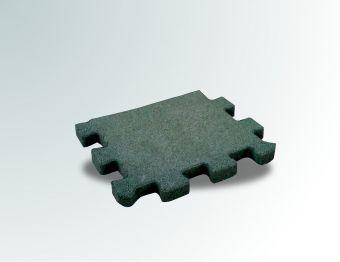 Pavimento a puzzle in gomma antitrauma verde 50x100 sp 2cm