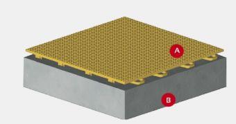 Pavimentazione tecnica per tennis outdoor / indoor autobloccante e autoposante 30x30x1,2