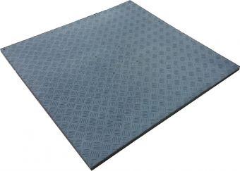 Tappeto gommato per palestre modello Pavipav 100x100x4