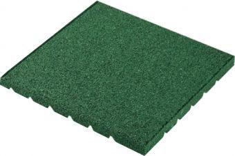 Piastrelle antitrauma verde 50x50 sp 3,5 cm c/spinotti ( hic 1,20 )