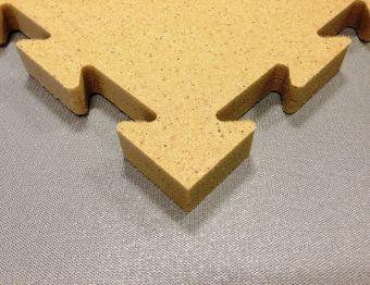 Tatami  Incastro Atossico 100x100 x 2 cm in polietilene e sughero