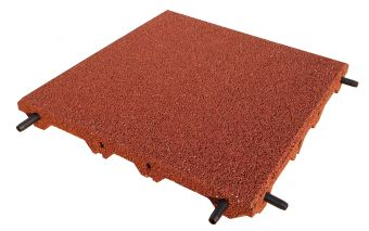 Piastrelle antitrauma rossa 50x50 sp 5 cm c/spinotti ( hic 1,80 )