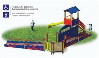 Villaggio Play Center torretta scala rampe pannello