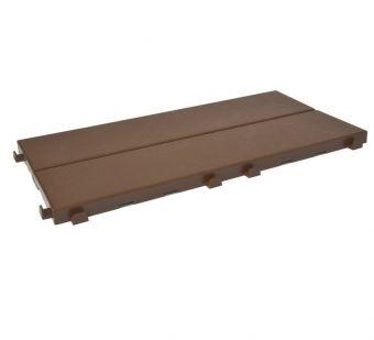 Piastrella in plastica EasyP modulare e componibile ad effetto legno