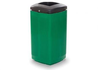 Cestone Toscano Verde, completamente costruito in Polyetilene.
