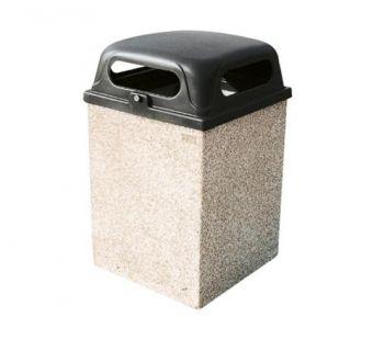Cestone Quadrato, ideale per l'ancoraggio alla pavimentazione e con struttura in conglomerato cementizio.