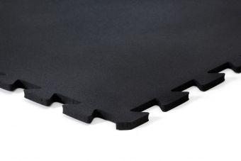 Pavimento in gomma 100x100x 6mm grana finissima a puzzle