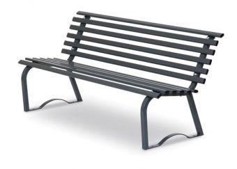 Panchina Universale cm. 150, colore Grigio. Ideale per parchi e luoghi pubblici.