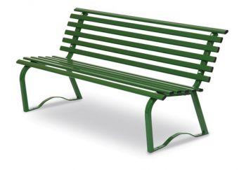 Panchina Universale cm. 150, colore Verde. Ideale per ampi giardini e luoghi pubblici.