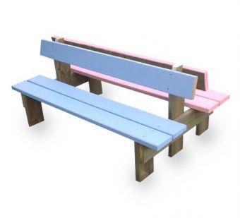 Panca Lui&Lei, interamente in legno. Ideale per scuola materna.