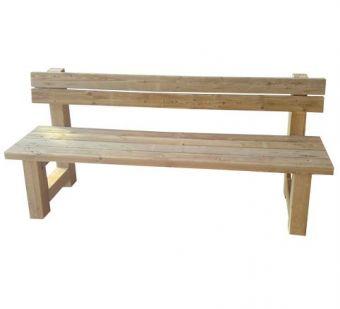 Panca Polacca, in legno di Pino Nordico. Alta durabilità e resistenza all'esterno.