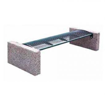 Panchina Classic, versione priva di schienale. Composta esclusivamente da acciaio e calcestruzzo.