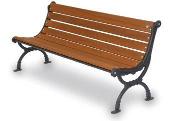Panca Firenze, ideale per utilizzo esterno. Seduta ergonomica e composizione in legno Esotico.