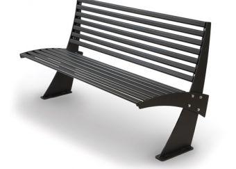Panca Shogun, versione color Grigio Micaceo. Design innovativo e comoda seduta ergonomica.
