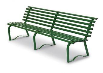 Panca Universale cm. 200, colore Verde. Ideale per parchi e luoghi pubblici.