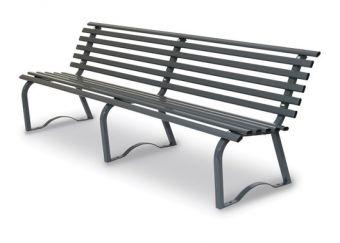 Panca Universale cm. 200, colore Grigio. Consigliata per utilizzo esterno, anche in luoghi pubblici.