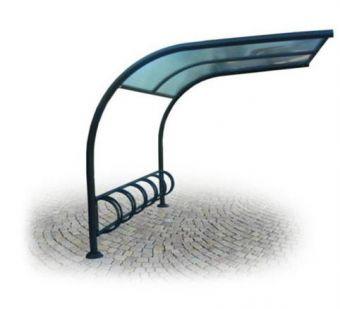 Pensilina Portabiciclette, ampie dimensioni e utile per non bagnare o rovinare biciclette posteggiate.