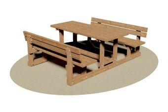 Tavolo pic-nic con Panche Relax, ideale per la sua seduta ergonomica.