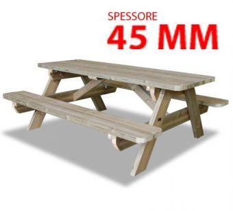 Pic-Nic Monoblocco, in legno. Versione per Adulti.