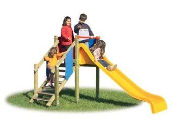 Torretta Marianna con scala e scivolo per parchi pubblici