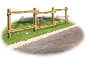 Staccionata Belvedere, interamente in legno con design per esterni.