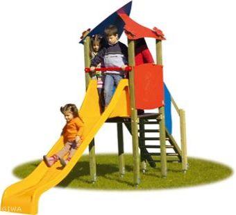 Torretta Simona completa di scala e scivolo per parchi pubblici
