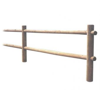 Staccionata Orizzontale, con pali posti in orizzontale per garantire divisorio e resistenza.
