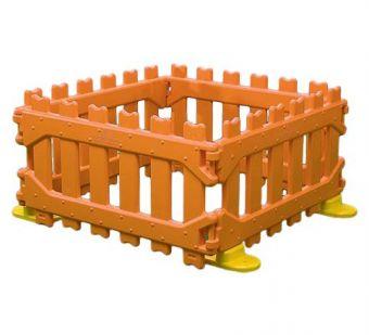 Staccionata-Recinzione in Plastica, ideale per utilizzo da parte di Bambini.