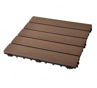 Pavimentazione per terrazzi in HDPE da esterno con finitura effetto legno ( Noce )