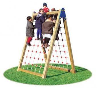 Doppia Arrampicata Giusy con pareti per arrampicata con rete in corda ideale per parchi pubblici.
