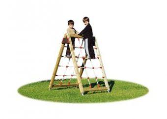 Sartia Stella con pareti per arrampicata con rete in corda ideale per parchi pubblici