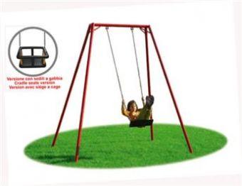 Altalena Cometa 1 posto disponibile con sedili a gabbia