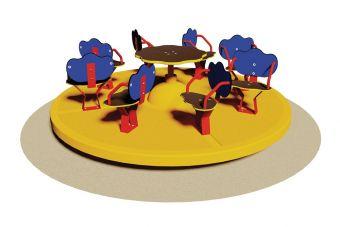 Giostra ad 8 posti con sedile