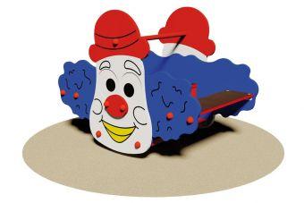 Clown il gioco a molla
