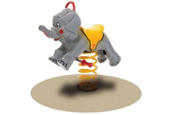 Elefante a Molla in vetroresina