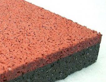 Piastrella in gomma rossa EPDM sp 10 mm