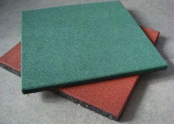 Piastrella in gomma verde EPDM sp 10 mm