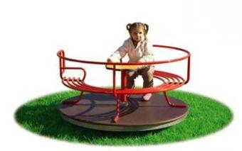 MiDi Giostra giostra con divanetto e pianale in legno ideale per parchi pubblici