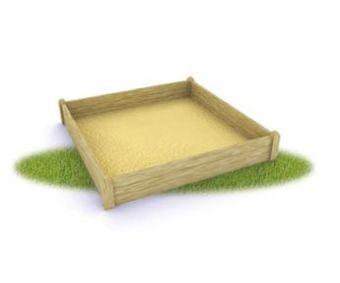 Sabbiera Milly quadrata in legno ideal eper parchi e giardini pubblici