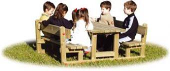 Mini Tavolo con Panche e schienale