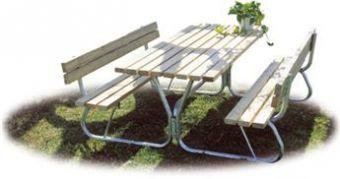 Tavolo Pic Nic con panche e spalliera ideale per giardini pubblici GPK