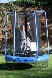 Trampolino per bambini rete protezione cm 140